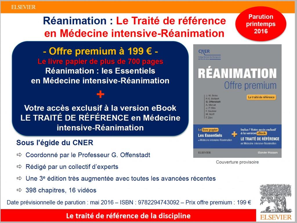 Reanimation - OFFRE PREMIUM - Le traite de reference